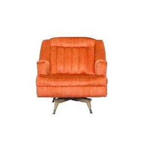 The Lucy: Midcentury Orange Chair