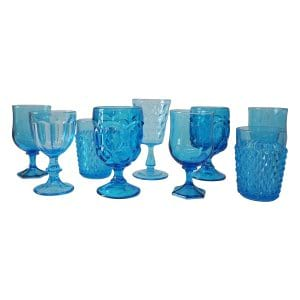Aqua Glass Goblets