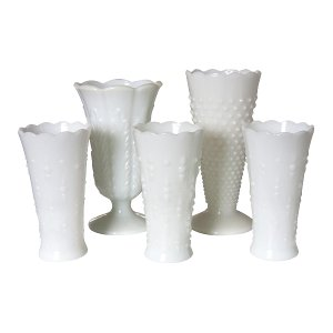 The Notting Hill: Large Assorted Milk Glass Vases