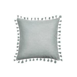 The Valerie: Gray Tassel Pillows