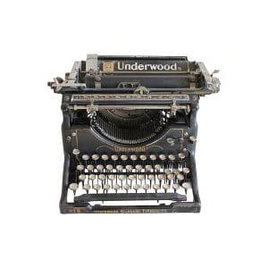 The Warner: Underwood Typewriter