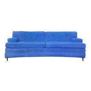 The Grover: Royal Blue Midcentury Sofa