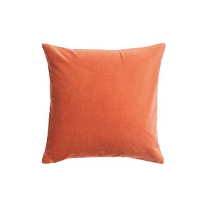 The Citron: Orange Velvet Pillows