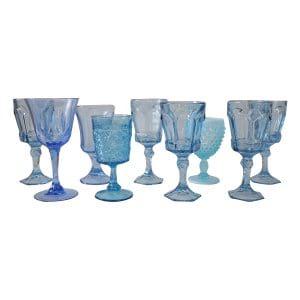 Light Blue Glass Goblets