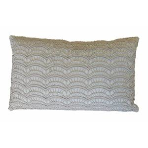 The Gray Scale: Lace Pillows