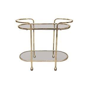 The Watson: Brass Bar Cart