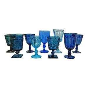 Blue Glass Goblets