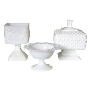 The Temple Hill: Assorted Milk Glass Candy Dishes