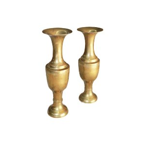 The Farrahs : Brass Candle Pillars Set