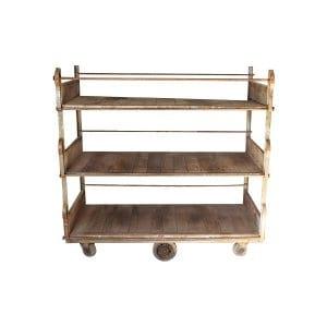 The Christmas Cart: Metal Factory Cart