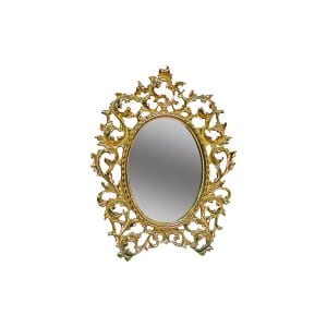 The Hannah: Small Self-Standing Gold Mirror