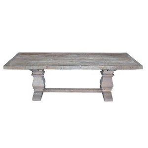 The Eckington: Gray Washed Pedestal Farm Tables