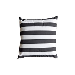 The Zane: Black and White Striped Pillow