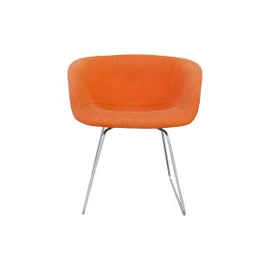 The Clementine: Orange Midcentury Chair