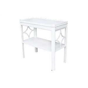 The Dorothy: White Chinoiserie End table