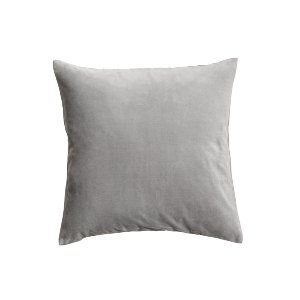 The Levi: Light Gray Velvet Pillows