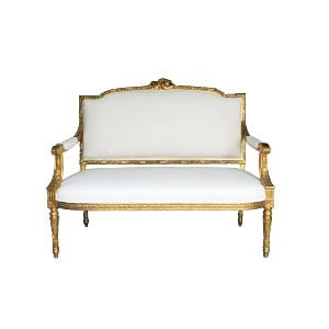 The Calais: Louis Ivory Settee