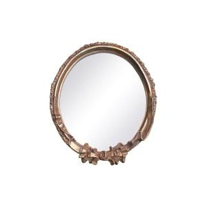 The Rose: Small Hanging Gold Mirror