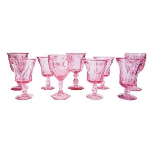 Pink Glass Goblets