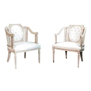 The Madelines: Ivory Vintage Chairs