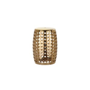 The Sophia: Gold Garden Stool