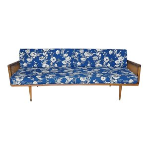 The Poppy: Floral Midcentury Sofa