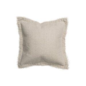 Raw Edge Flax Linen Pillows