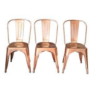 The Lincoln: Rose Gold/Copper Chairs