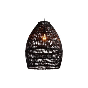 The Isadora: Black Wicker Hanging Lights