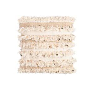 The Pippa: Cream + Gold Fringe Pillow