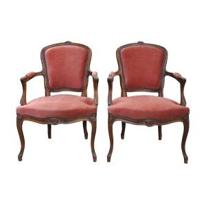 The Alcotts: Dusty Rose Velvet Chairs