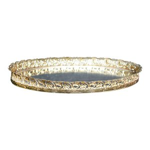The Ada: Small Gold Mirror Tray
