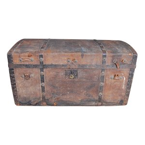 The Henley: Embossed Leather Steamer Trunk