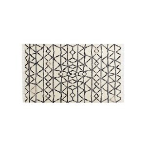 The Luna: Ivory Geometric Rug