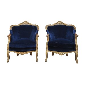 The Rosalina: Navy and Gold Chairs