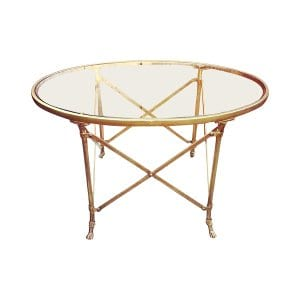 The Mallory: Brass Coffee Table