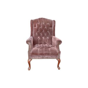 The Lila: Amethyst Wingback Chair