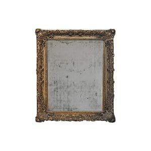 The Tart: Oversized Self-Standing Distressed Gold Mirror