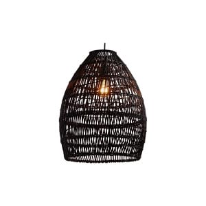 The Isadora: Black Wicker Hanging Lights