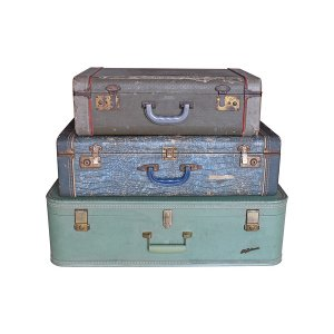 The Azure : Vintage Suitcases