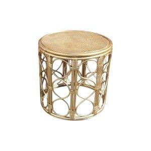 The Vivian: Gold Bamboo Table