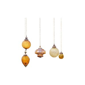 The Griffins: Vintage Amber Pendant Lights