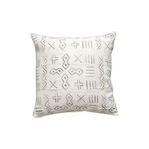 The Asha: White Mudcloth Pillow