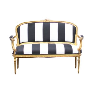 New! The Olivia: Black and White Settee