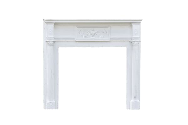The Park Place: Distressed Wood Mantel