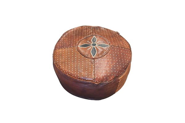 The Hess: Leather Pouf