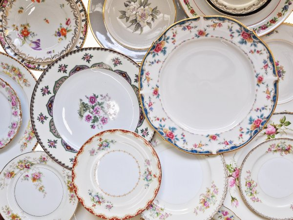 The Florence: Mixed Vintage Plate Set