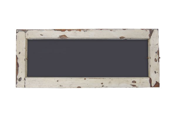 The Transom: Distressed Small White Chalkboard