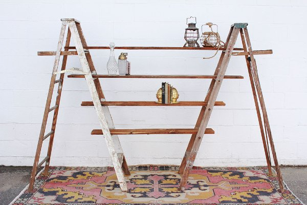 Declan Vintage Ladders + Shelves
