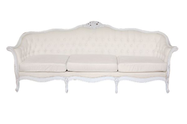 The Nadia: Cream Tufted Sofa